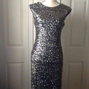 Dresses & Skirts - Sequin Silver Gray Dress - Size M